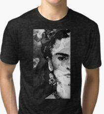 Black And White Frida Kahlo by Sharon Cummings Tri-blend T-Shirt