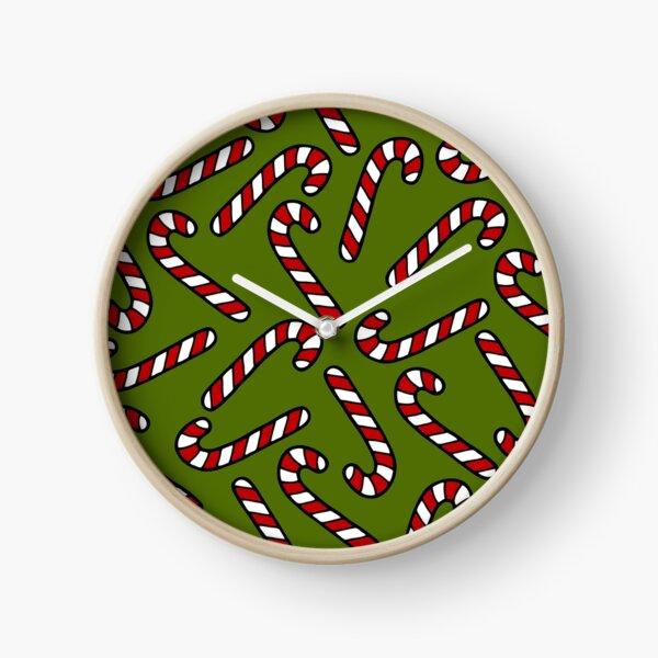 Candy Cane Pattern Clock