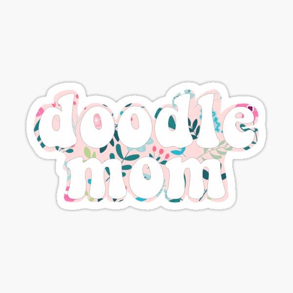 Floral Doodle Mom - Golden Doodle Goldendoodle Sticker Sticker