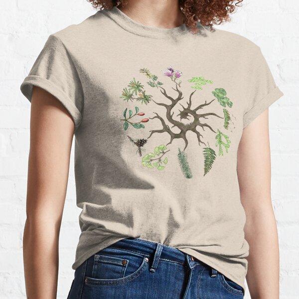 Plant Evolutionary Tree (Plain Background) Classic T-Shirt