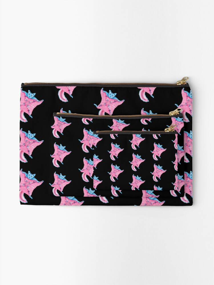 Alternate view of Flying Squirrel Pattern Zipper Pouch