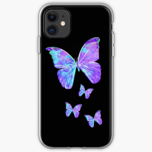 Purple Butterflies by Jan Marvin iPhone Soft Case