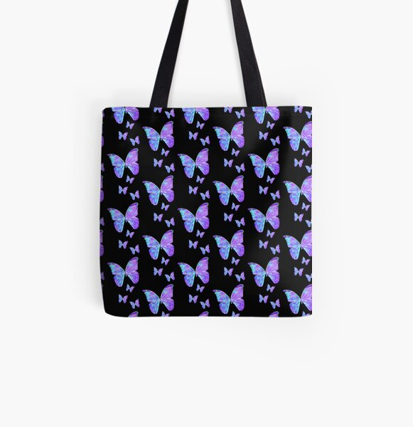 Purple Butterflies by Jan Marvin All Over Print Tote Bag