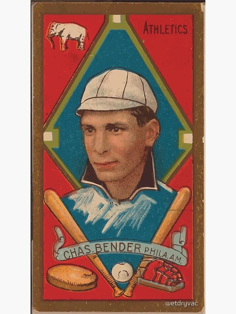 Benjamin K Edwards Collection Chas Bender Philadelphia Athletics baseball card portrait by wetdryvac