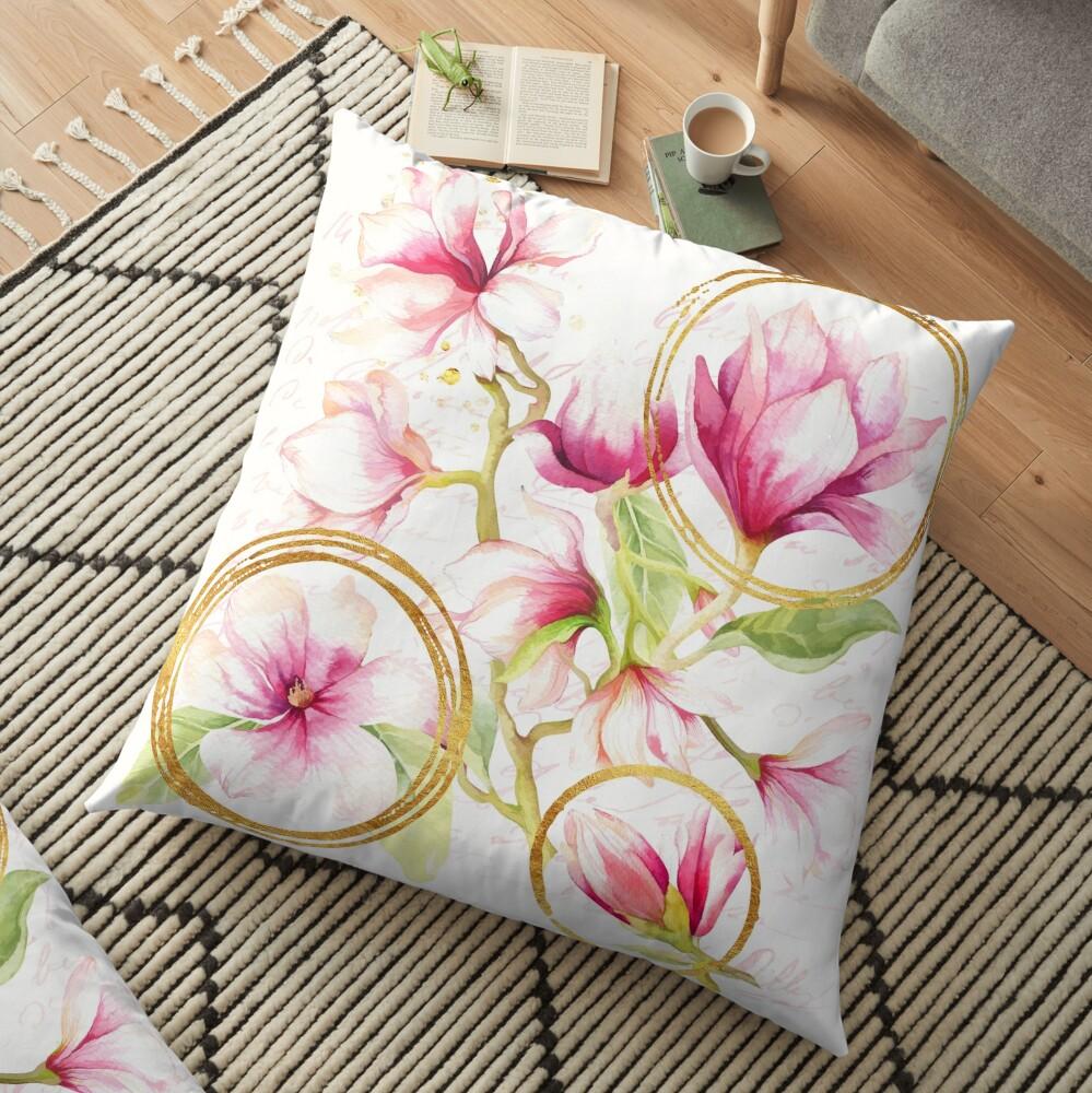 Modern Parisian Modern floral art Floor Pillow