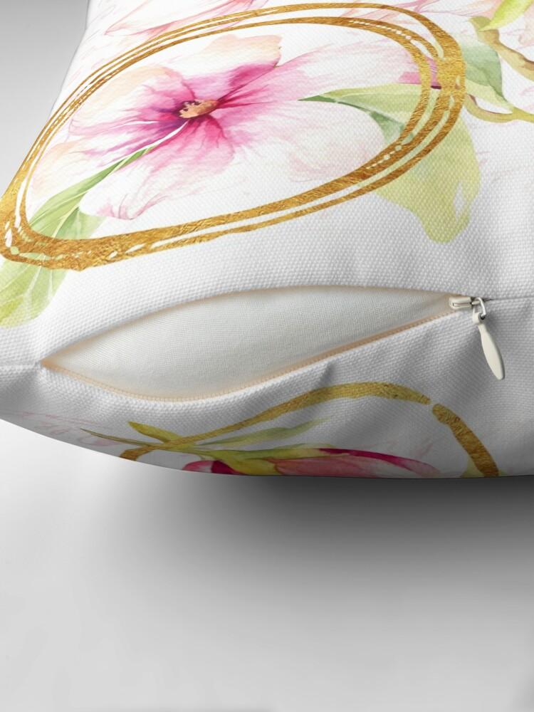 Alternate view of Modern Parisian Modern floral art Floor Pillow