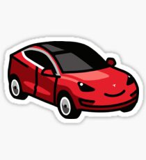 Rotes Tesla-Modell 3 Sticker