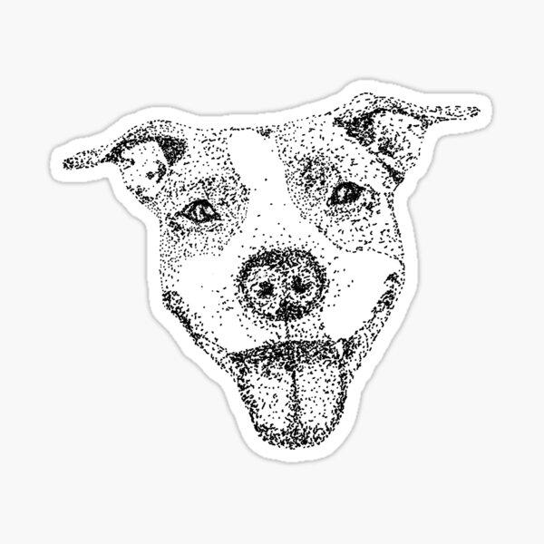 Dotted pitbull Sticker