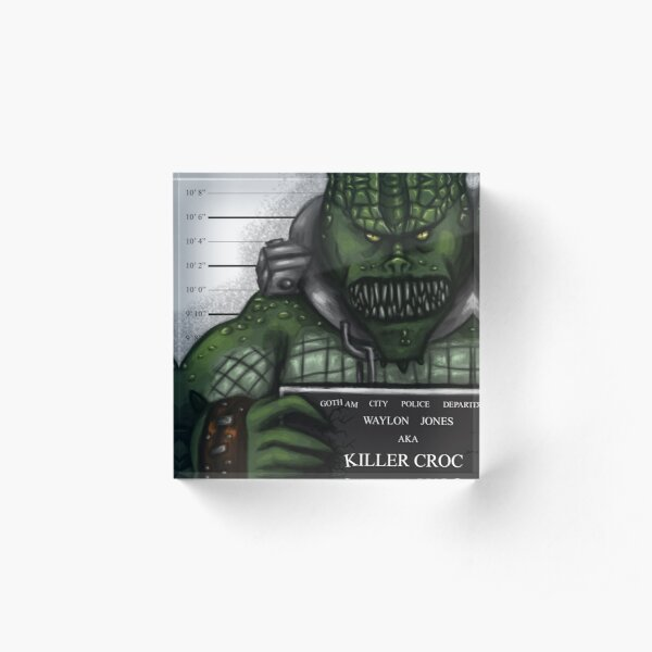 Killer Croc Acrylic Block