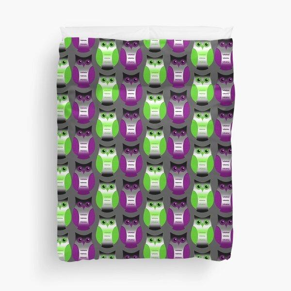 Agender Ace Pride Owls Duvet Cover