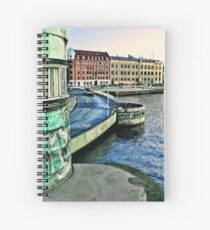 Copenhagen City View by Tim Constable. Spiral Notebook