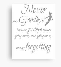 never say goodbye Canvas Print
