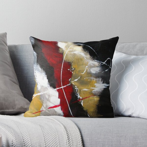Red Passion Modern Abstract Throw Pillow