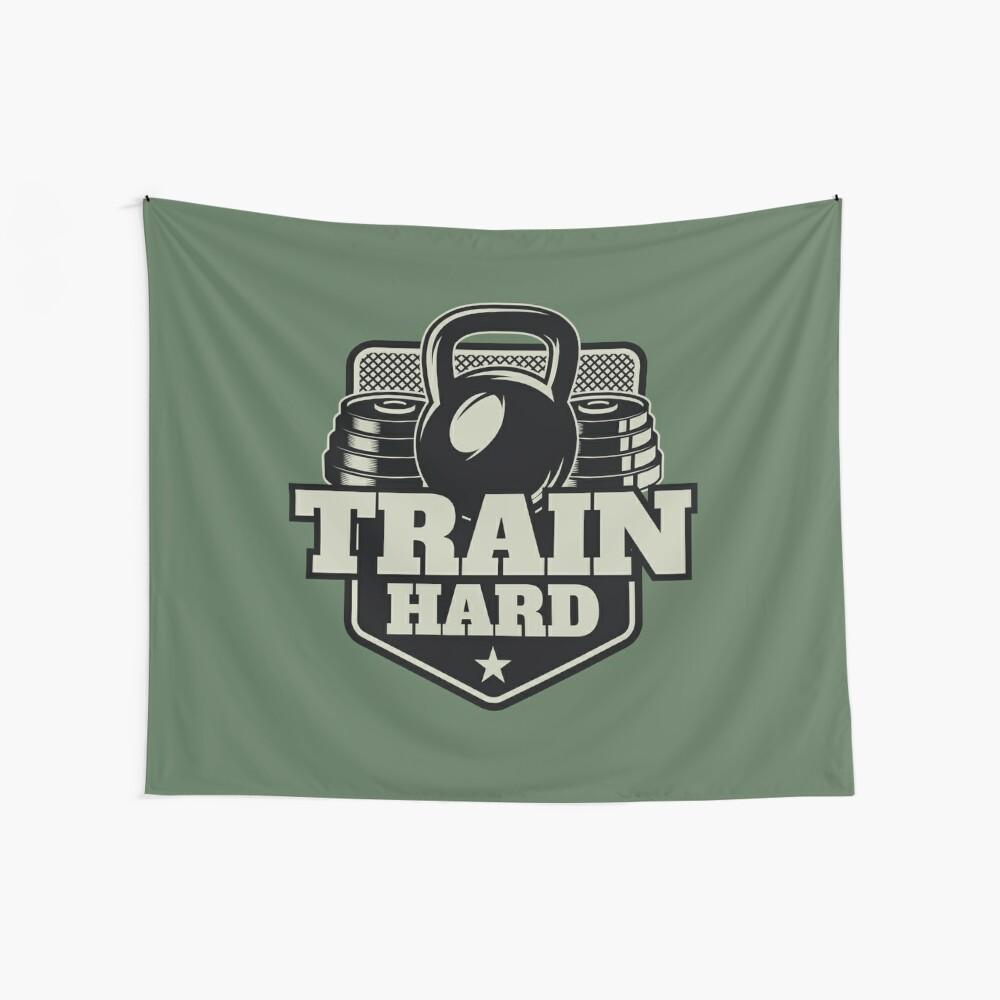 Train Hard Wandbehang