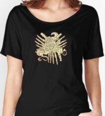 """Petals"" Foot Bones and Flora Illustration Women's Relaxed Fit T-Shirt"