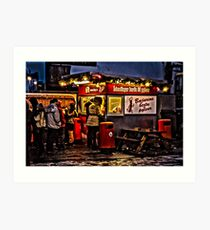 The best hot dog stall in Iceland! Art Print