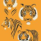 Tiger Pattern in Orange by latheandquill