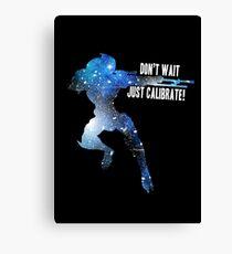 Mass Effect Silhouettes, Garrus - Don't Wait, Just Calibrate! Canvas Print