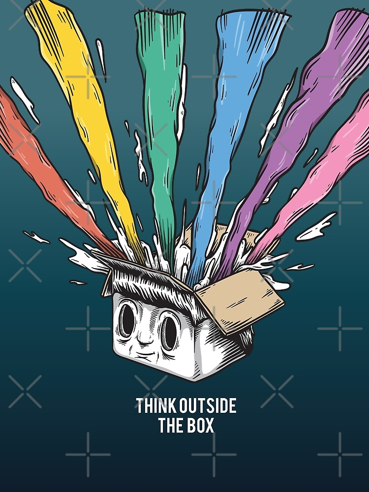 Think Outside The Box Startup Entrepreneurial Self Employed Teamwork by ProjectX23