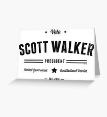 Vote Scott Walker Greeting Card