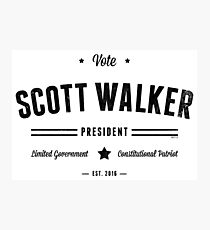 Vote Scott Walker Photographic Print