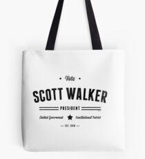 Vote Scott Walker Tote Bag