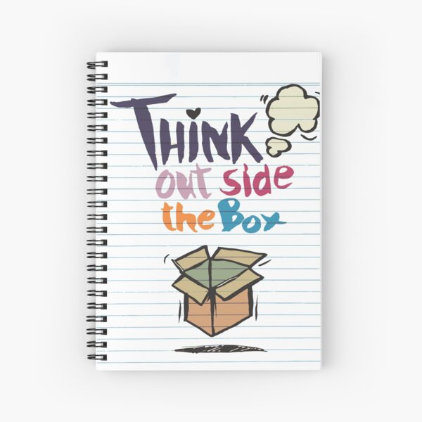 Think Outside The Box Startup Entrepreneurial Self Employed Teamwork Spiral Notebook