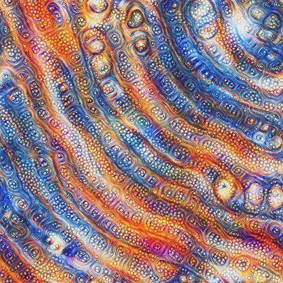 DeepDream abstraction close-up