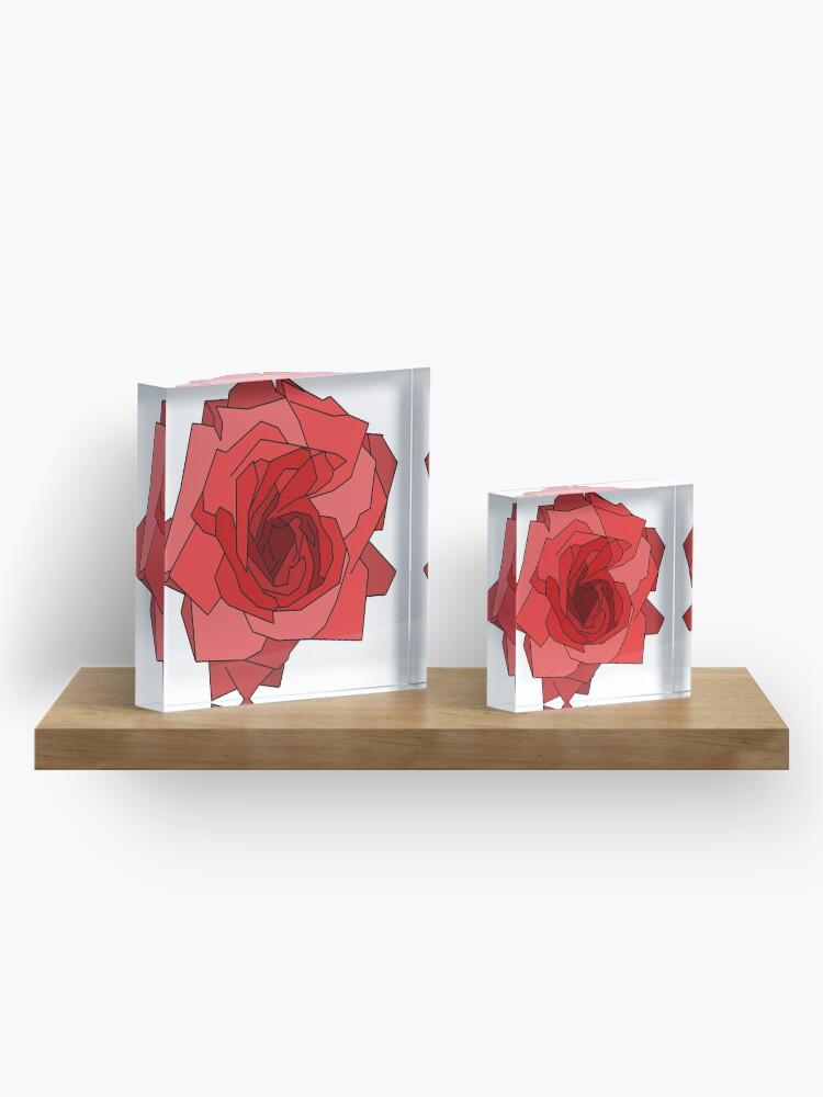 Alternate view of Minimalist Rose Acrylic Block