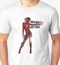 Mass Effect Silhouettes, Jack - Forced Meds? Bust Heads! T-Shirt