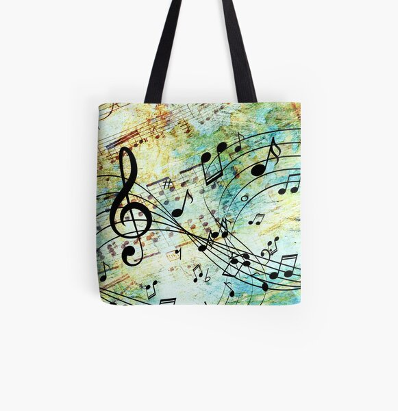 Music All Over Print Tote Bag