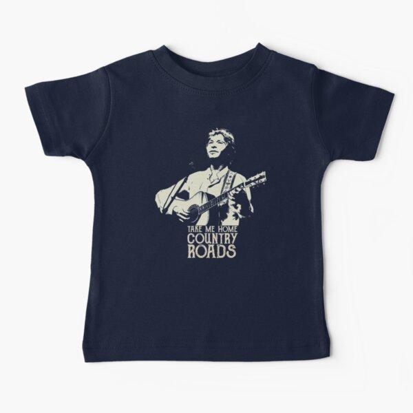 John Country Denver Roads - Cream Stencil-2 Baby T-Shirt