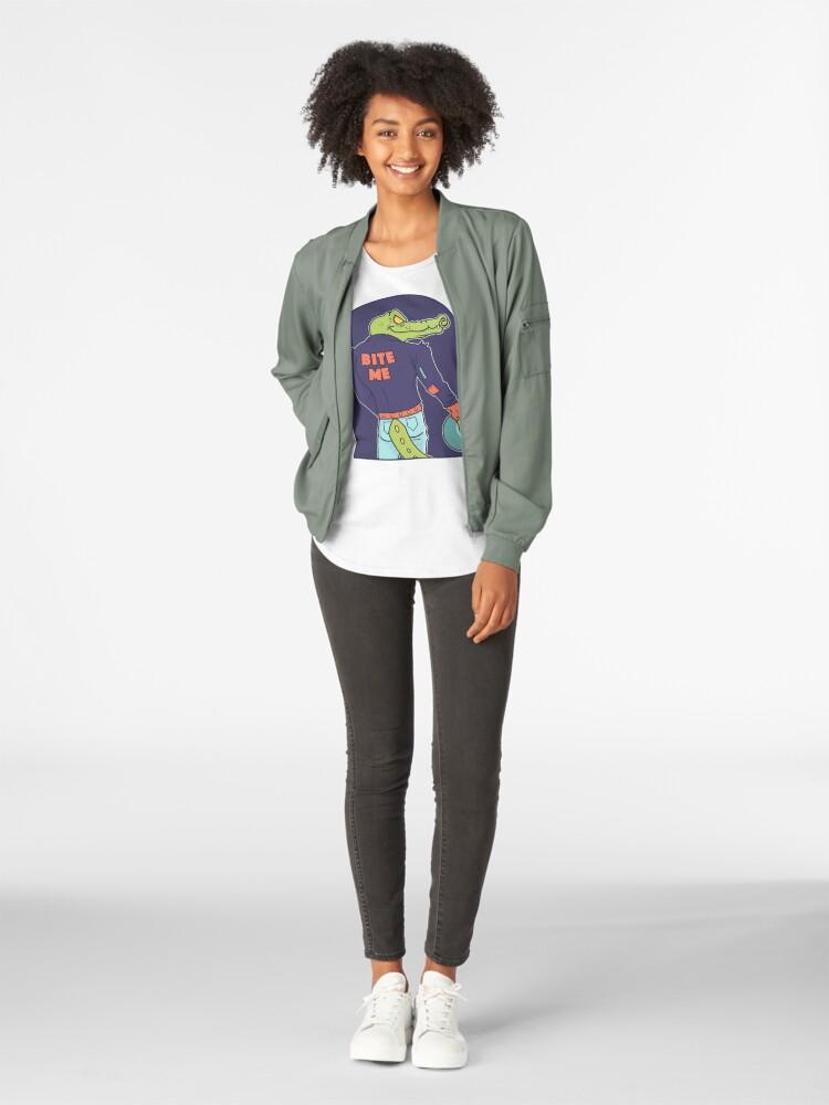 Alternate view of Alley Gator Premium Scoop T-Shirt
