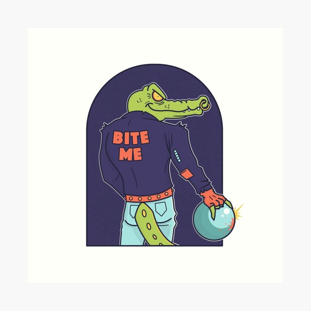 Alley Gator Art Print