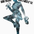 Mass Effect Silhouettes, Liara - Burn Thessia? Make a Mess o' Ya! by joeymaggs