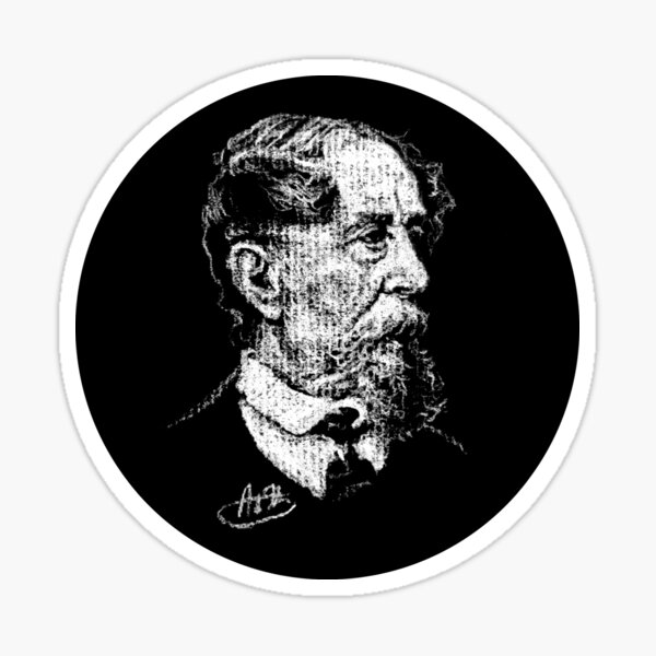 Charles Dickens in a Circle! Sticker