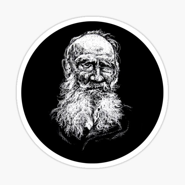 Leo Tolstoy in a Circle! Sticker