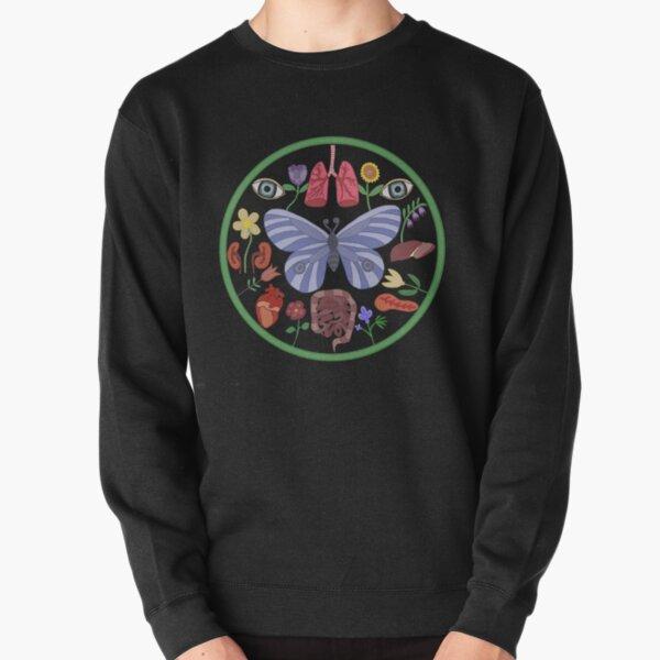 Donate Life Folk Art Amish Hex Butterfly Pullover Sweatshirt