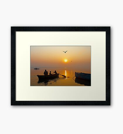 The Holy Ganga at Varanasi #3 Framed Print