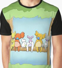 Multi coloured cute koala in a tree Graphic T-Shirt