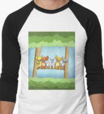 Multi coloured cute koala in a tree Baseball ¾ Sleeve T-Shirt