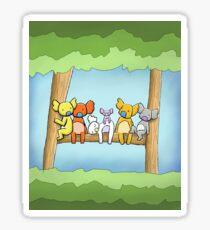 Multi coloured cute koala in a tree Sticker