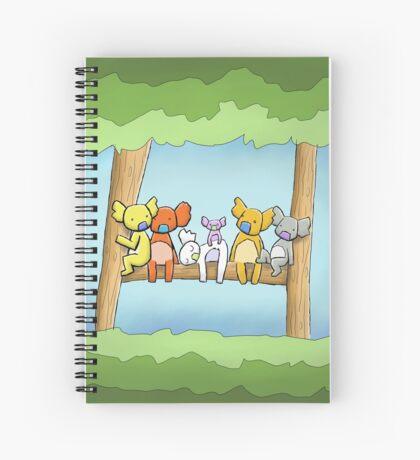 Multi coloured cute koala in a tree Spiral Notebook