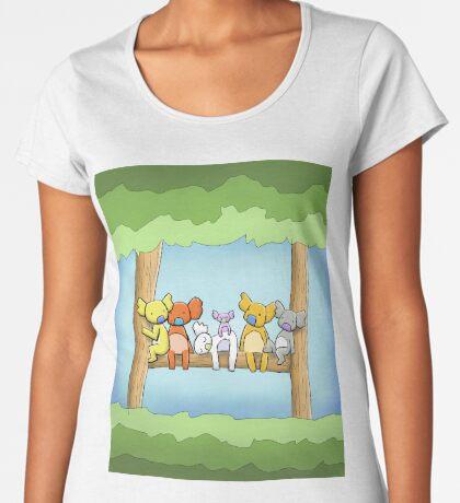 Multi coloured cute koala in a tree Premium Scoop T-Shirt
