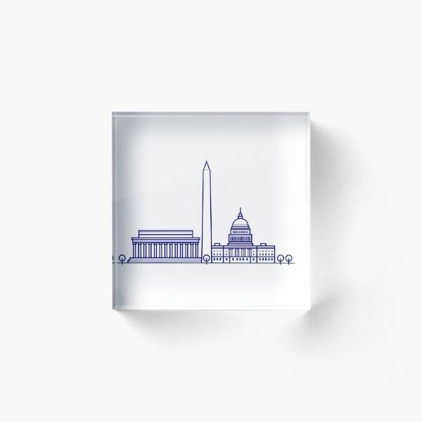 DC Skyline Acrylic Block