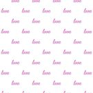 Love, pattern, typography by Alma-Studio