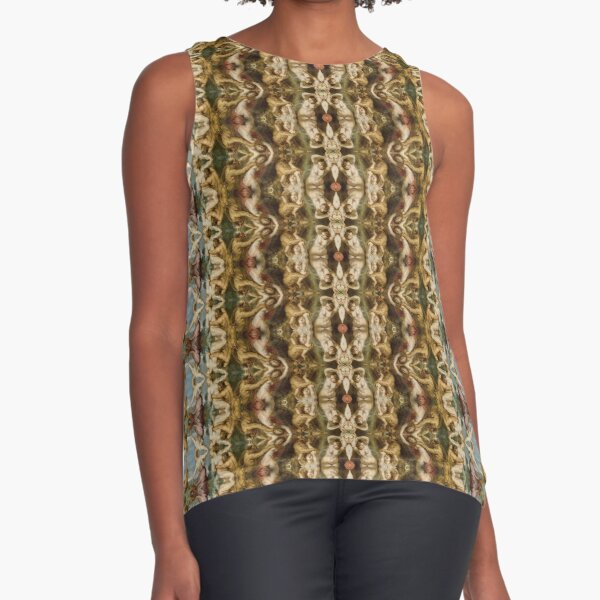 #Design, #pattern, #decoration, #art, abstract, illustration, ornate, old, wallpaper, textile Sleeveless Top