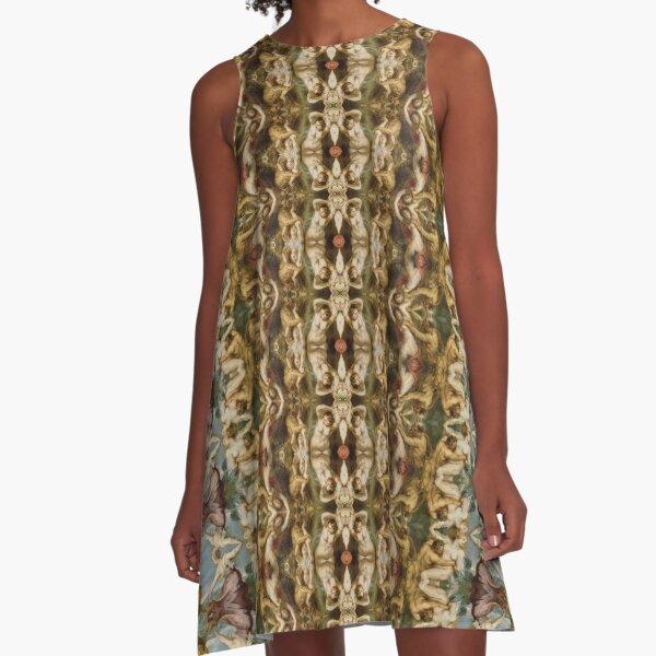 #Design, #pattern, #decoration, #art, abstract, illustration, ornate, old, wallpaper, textile A-Line Dress