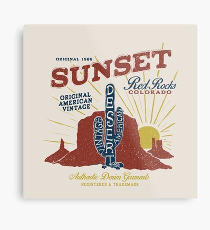 Red Rocks Colorado Vintage Metal Print