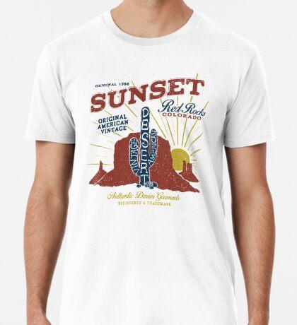 Red Rocks Colorado Vintage Premium T-Shirt